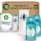 Air Wick 1 Diffusore + 2 Ricariche per Spray Automatico Freshmatic - Fragranza Pure Profumo di Primavera