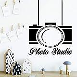 yaonuli Beauty Camera Wall Art Decal Wall Sticker Decorazione Soggiorno Camera da Letto Rimovibile Decorazione Domestica 54x66cm