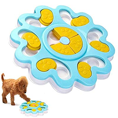 BUYGOO Dog Puzzle Feeder Toy Dog Interactive Toy Dog Food Toy Non-slip Puppy Treat Dispenser Feeder Pet Training Games Toy for Dog Puppy Cat