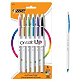 BIC Cristal Up Ballpoint Pen, Medium Point (1.2mm), Assorted Colors, 6-Count