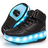 WFSH Patines LED de niños Unisex, Zapatillas de Patinaje de Rodillos, Entrenadores de Gimnasia al Aire Libre, Patines técnicos para niños y niñas (Color : A, Size : 30)
