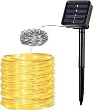 Vegena Lichtslang op zonne-energie, 12 m, 100 leds, 8 modi, waterdicht, IP65, voor buiten, voor tuin, feest, bruiloft, pav...