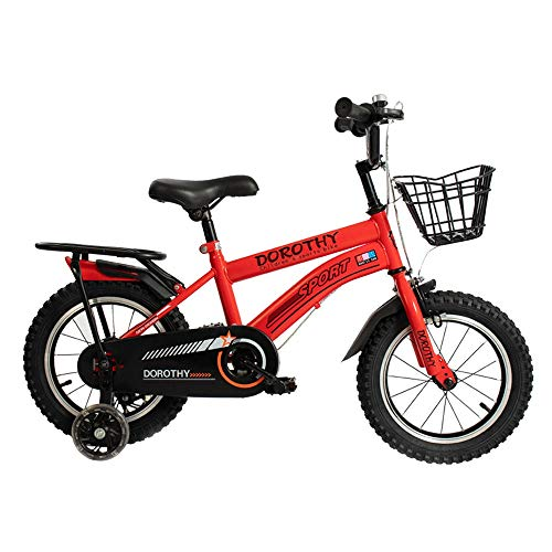 BAOMEI Kids Bike Kids Bike 2-13 Year Old Child Bicycle 12/14/16/18 Inch Boy Girl Bicycle,3 Colors (Color : Red, Size : 18in)