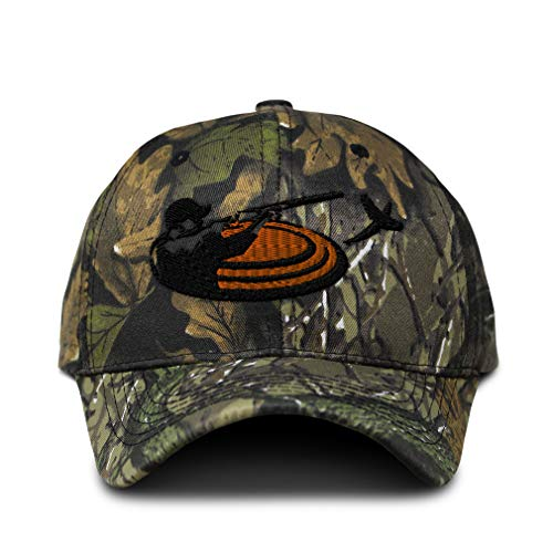 Camo Baseball Cap Trap Shooting Sport Embroidery Cotton Hunting Dad Hats for Men & Women Strap Closure Forest Tree Green Design Only