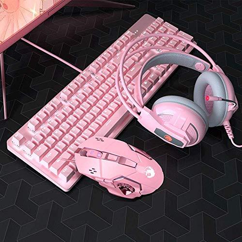 Pkfinrd Rosa Mechanische Tastatur 104...