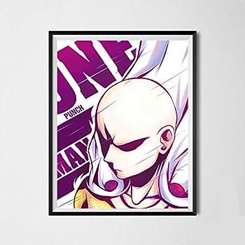 Amazon Com Hero Of League Saitama One Punch Man Manga Anime Canvas Art Print 8 X 10 Inches No Frame Furniture Decor