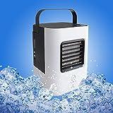 YOUDirect Portable Mini Air Conditioner Fan 9.5-inch - Small Desktop Fan Mini Evaporative Air Cooler Fan (Black)