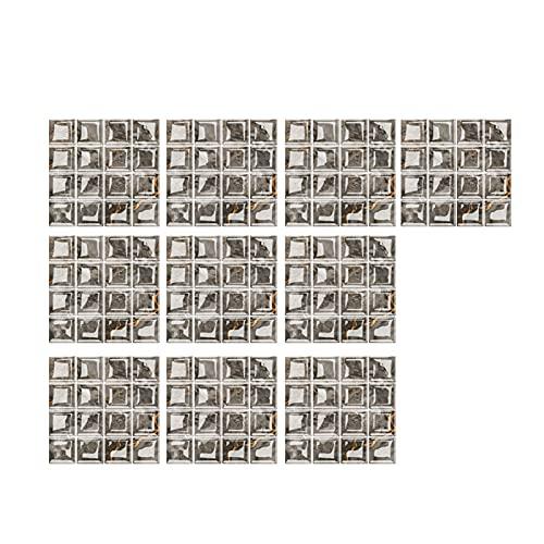lefeindgdi Mosaico adhesivo adhesivo adhesivo 3D adhesivo extraíble para pared de cocina, baño y pared