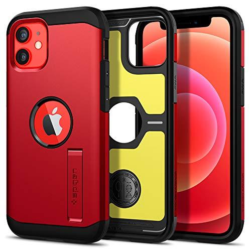 Spigen Tough Armor Hülle Kompatibel mit iPhone 12 Mini -Rot