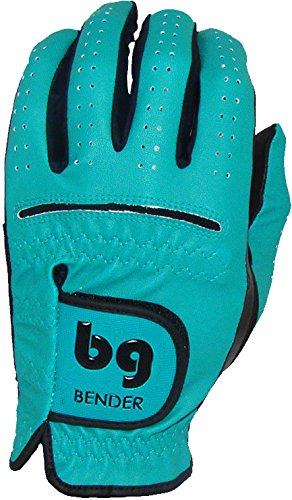 Bender Gloves Men's Synthetic Golf Glove (Worn on Left Hand) (Teal, X-Large)