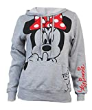 Disney Junior Minnie Mouse Silent Hoodie Fleece Pullover Heathered Grey Medium