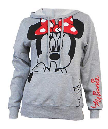 Disney - Sudadera júnior con capucha, diseño de Minnie Mouse - Gris -