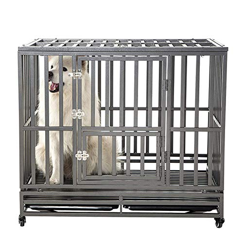 3. SMONTER Heavy Duty Strong Metal Dog Cage