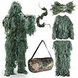 FUNPENY Ghillie Suits for Men, Outdoor Camo Hunting Ghillie Suit Costume Clothings