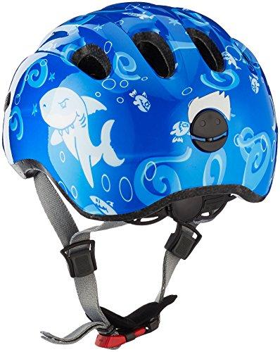 Abus Jungen Smiley 2.0 Fahrradhelm, Blue Sharky, 45-50 cm - 2