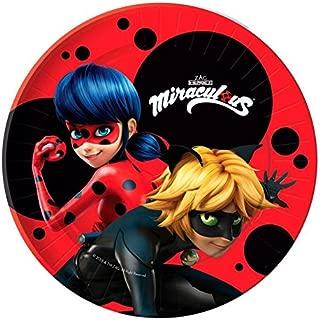 'Pack 10 Plates Party Marvelous Ladybug