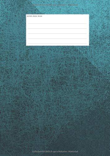 Hefte - Blöcke - Notizen: grün blau  Notenheft DIN A4, 50 Seiten, 12 Systeme