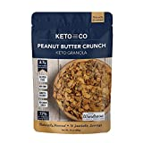 Keto Peanut Butter Crunch Granola by Keto and Co | Just 2.7g Net Carbs Per Serving | Gluten Free, Low Carb, Diabetic Friendly, Naturally Sweetened, No Added Sugar, Non-GMO | (10 Servings)