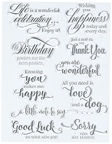 """Penny Black 30-350 N/A Clear Stamps 5""""X7""""-Sentiment Collection"""