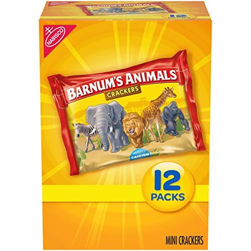 Barnum's Mini Animal Crackers Snack Packs, 12 Count Box