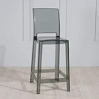 Tabouret De Bar Chaise Transparente Haut Avec Dossier Salle