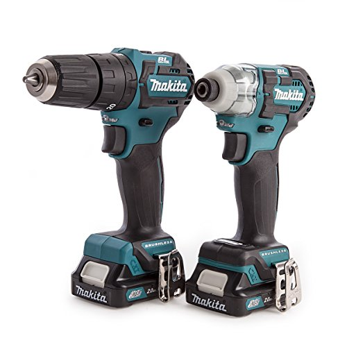 Makita CLX205AJ CXT Combo Kit, 10.8 V, Blue, Set of 2 Pieces