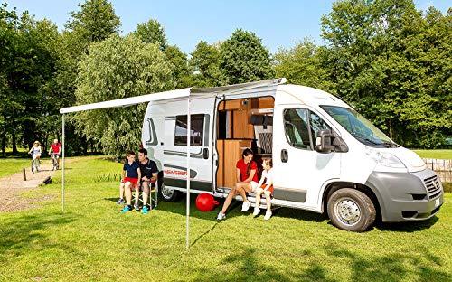 Fiamma Dachmarkise F80S Titanium 400 cm grau Markise Camping Sonnenschutz Wohnmobil Sonnendach Reise