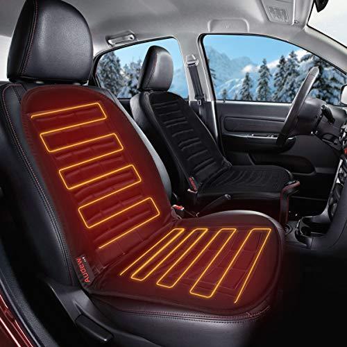 Audew 12V Auto Heizauflage Sitzheizung Heizkissen 40-65℃ Winter Auto Sitzauflagen Auto Auflage Heizauflage