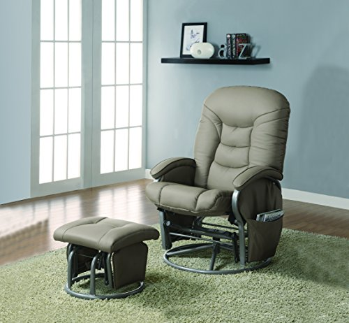 Casual Bone Leatherette Reclining Glider mobile product short list 7