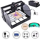 MYSWEETY DIY CNC 3018PRO-M 3 Axis CNC Router Kit with 5500mW 5.5W Module + PCB Milling, Wood Carving Engraving Machine...