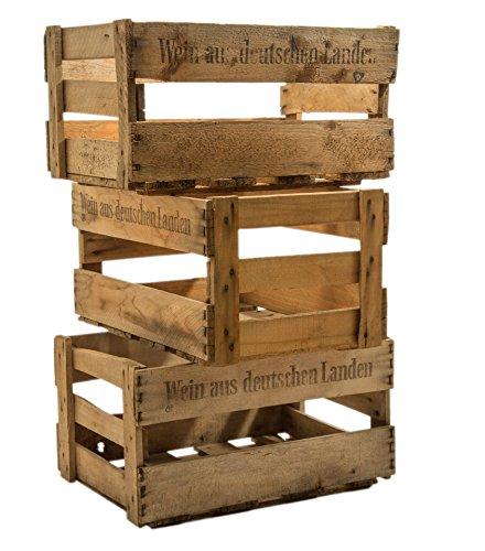 Kistenkolli Altes Land Schöne Originale Weinkiste Holzkiste mit Aufschrift 46cm x 30,5cm x 24cm - 2