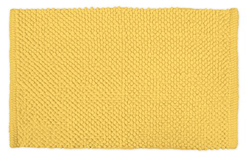 DII Ultra Soft Plush Spa Cotton Pebble Absorbent Chenille Bath Mat Place in Front of Shower, Vanity, Bath Tub, Sink, and Toilet, 17 x 24