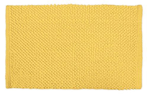 DII 100% coton chenille Pop Corn Luxury Spa Tapis de bain, doux et absorbant, Place Near Meuble de salle de bain, baignoire ou douche, parfait pour chambre de Dortoir, utilisation, et d'autres Plus d'humidité, 43,2 x 61 cm, crème, jaune, 17x24\