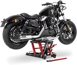 Elevador moto ConStands Mini-Lift L black-rojo por Harley Davidson Cross Bones (FLSTSB), CVO Electra Glide Ultra Classic (FLHTCUSE), CVO Road Glide Custom/ Ultra (FLTRXSE), CVO Softail Convertible (FLSTSE), CVO Street Glide (FLHXSE), Dyna Fat Bob (FXDF), Dyna Low Rider (FXDL/I), Dyna Super Glide (FXD),/Dyna Switchback (FLD)