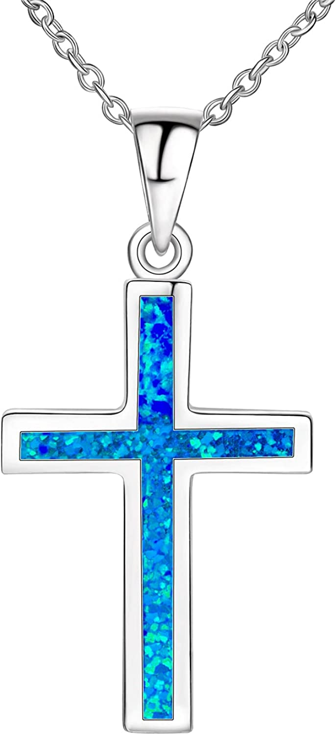 Silver Daily bargain sale Cross Necklace for Women Fees free!! Zircon 925 Sterling Cubic