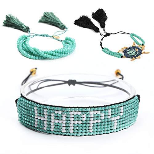 Rongzou Armband, 1 Set Eenvoudig voor Vrouwen Set Persoonlijkheid Mode Kwastje Rijst Kralen Gepersonaliseerde Geschenken Nieuwe