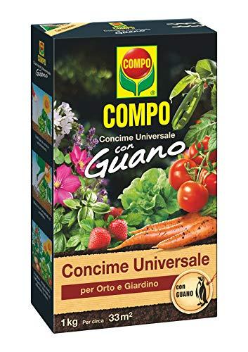 COMPO Concime Universale per Orto e Giardino, Con Guano, Con misurino dosatore, 1 kg