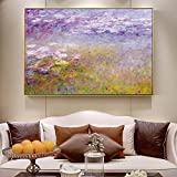 Pinturas de lirio de agua de Claude Monet en la pared Impresiones enlienzo de arte Monet Paisaje ...