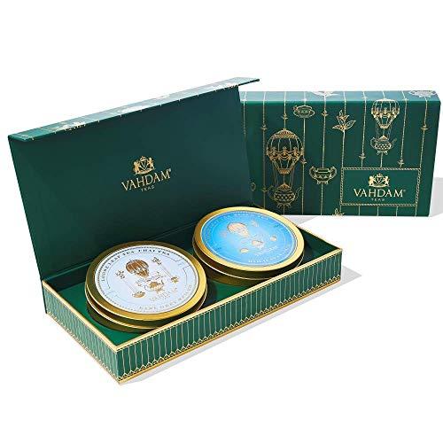 VAHDAM, DUO de Tea Master - El mejor juego de regalo de té | 2 premiadas mezclas de juegos de té en una caja de presentación | Regalos de cumpleaños perfectos para hombres | Regalos para papá