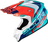 Scorpion CASCO MOTO VX 16 AIR NATION,UNISEXO,Verde-azul-rojo,L