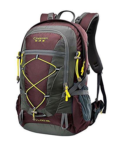 40L Hiding Sacs à dos Alpinisme Sac à dos Voyage Double-épaule Tour Ultra-Light Computer Backpack , red wine