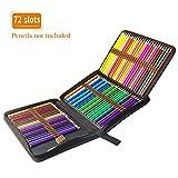 TOPERSUN Bolsa de Lápiz de Colores 72 Estuche Enrollable 72 Lápices Estuche para Lápices de Lona Organizador para Lapices Bolígrafos Plumas