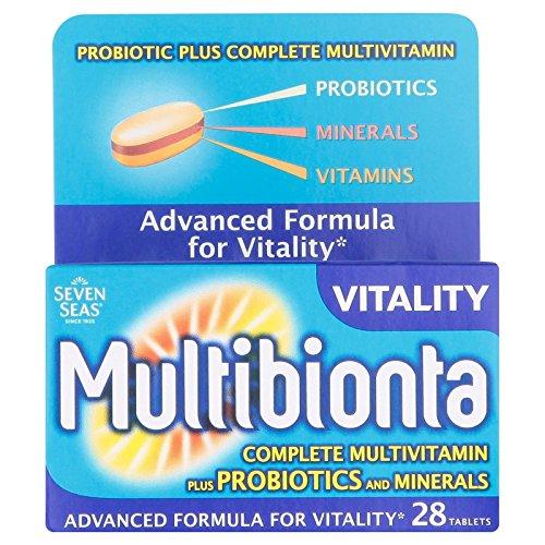 Seven Sea's Multibionta Vitality Complete Multivitamin Plus Probiotics 28 Tablets x 2