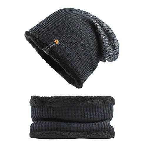 OVINEE Woll- und Kaschmir-Mütze für Herren, Unisex, Outdoor Sportswear, Camping, Wandern, Reisen, Handschuh, warm, Armada, Unisex