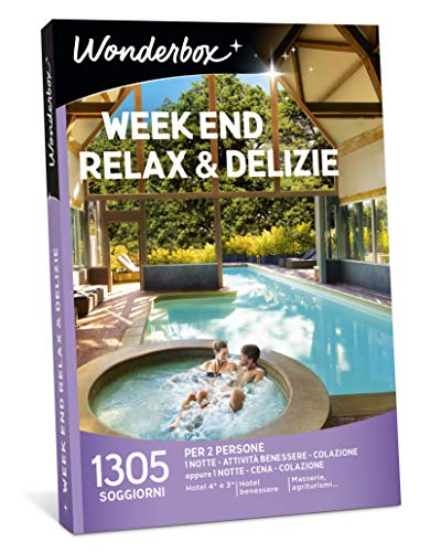 Wonderbox Cofanetto Regalo - Week End Relax & DELIZIE - Valido 3 Anni e 3 Mesi