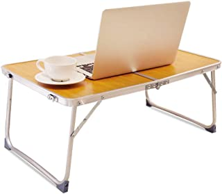 RAINBEAN Foldable Laptop Table Lapdesk, Breakfast Bed, Portable Mini Picnic Desk,Notebook Stand Read Holder for Couch Floo...