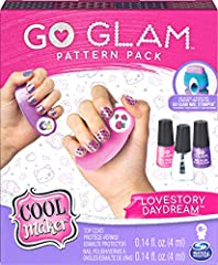 Style any size nail: the go glam nail stamper stamps patterns onto any size nail! It's fun and easy to create custom manicures in minutes with this nail kit. Just pop a pattern into the machine (sold separately), paint your nails with the base coat a...