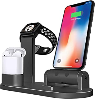 ANGUO Wireless Charging Station,Charging Stand for Apple Watch/iPhone/AirPods(Tablets),Charging Dock for iWatch Series 4/3...