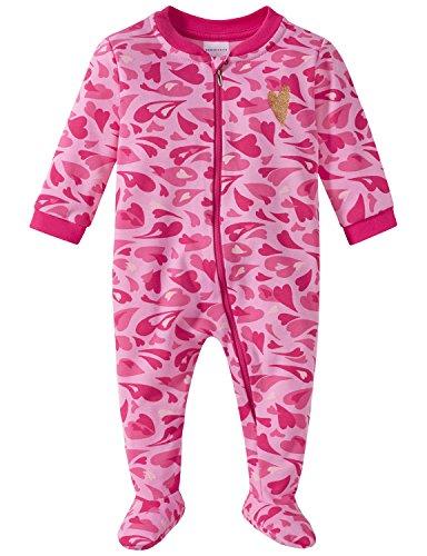Schiesser Schiesser Baby-Mädchen Anzug mit Fuß Zweiteiliger Schlafanzug, Rot (Rosa 503), 68 (Herstellergröße: 068)