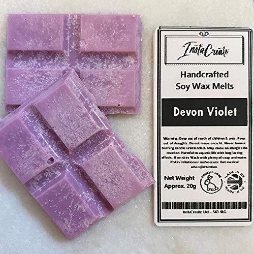 Ditzy Doll DEVON - Barra de cera de violeta, hecha a mano, altamente fragante, ambientador para el hogar, calentador de cera, quemador de cera